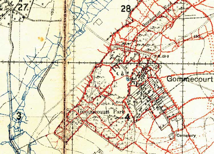 World War One Battlefields : The Somme : Gommecourt