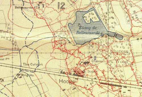 Trnech Map Hooge | World War One Battlefields