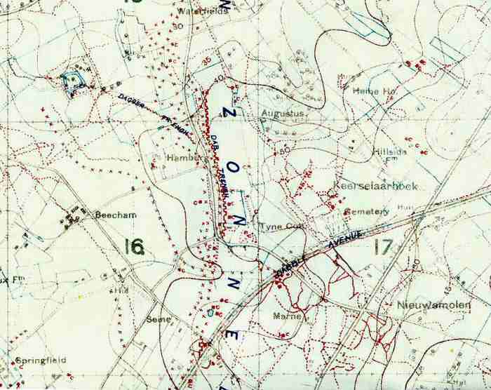 Trench Map: Tyne Cot | World War One Battlefields