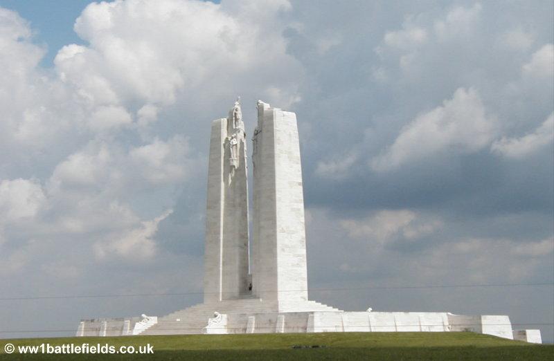 Vimy Ridge Canadian battleground : World War One Battlefields